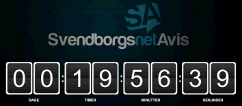Forsiden på Svendborgs Netavis - nedtælling til relancering